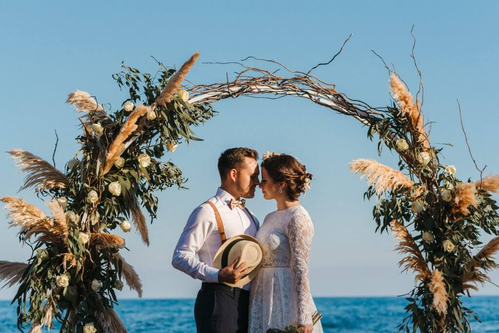 Altar floral bodas