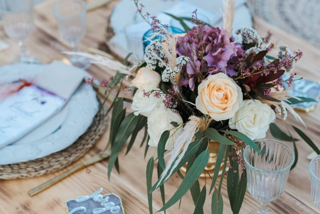 Centros mesa florales