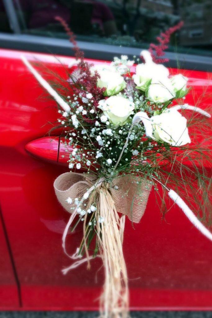 Decoración coche novia