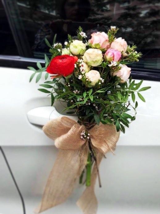 Ramo de flores para Coche Nupcial