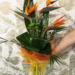 arreglo de flor tropical